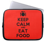 [Cutlery and plate] keep calm and eat food  Laptop/netbook Sleeves Laptop Sleeves