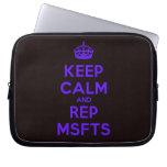 [Crown] keep calm and rep msfts  Laptop/netbook Sleeves Laptop Sleeves