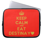 [Crown] keep calm and eat destinay♥  Laptop/netbook Sleeves Laptop Sleeves