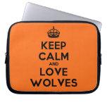 [Crown] keep calm and love wolves  Laptop netbook Sleeves Laptop Sleeves