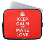 [Crown] keep calm and make lovr  Laptop/netbook Sleeves Laptop Sleeves