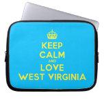 [Crown] keep calm and love west virginia  Laptop netbook Sleeves Laptop Sleeves