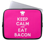 [Chef hat] keep calm and eat bacon  Laptop/netbook Sleeves Laptop Sleeves