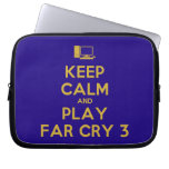 [Computer] keep calm and play far cry 3  Laptop/netbook Sleeves Laptop Sleeves