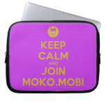 [Smile] keep calm and join moko.mobi  Laptop/netbook Sleeves Laptop Sleeves