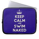 [Knitting crown] keep calm and swim naked  Laptop netbook Sleeves Laptop Sleeves