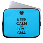 [Love heart] keep calm and love cma  Laptop/netbook Sleeves Laptop Sleeves