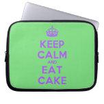 [Crown] keep calm and eat cake  Laptop/netbook Sleeves Laptop Sleeves