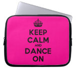 [Crown] keep calm and dance on  Laptop/netbook Sleeves Laptop Sleeves