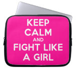 keep calm and fight like a girl  Laptop/netbook Sleeves Laptop Sleeves