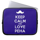 [Moustache] keep calm and love peha  Laptop/netbook Sleeves Laptop Sleeves