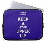 [UK Flag] keep a stiff upper lip  Laptop/netbook Sleeves Laptop Sleeves
