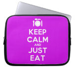 [Cutlery and plate] keep calm and just eat  Laptop/netbook Sleeves Laptop Sleeves