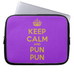 [Crown] keep calm and pun pun  Laptop/netbook Sleeves Laptop Sleeves