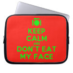 [Cutlery and plate] keep calm and don't eat my face  Laptop/netbook Sleeves Laptop Sleeves