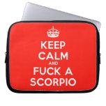 [Crown] keep calm and fuck a scorpio  Laptop/netbook Sleeves Laptop Sleeves
