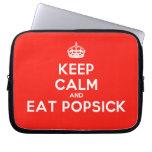 [Crown] keep calm and eat popsick  Laptop/netbook Sleeves Laptop Sleeves