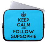 [Crown] keep calm and follow supsophie  Laptop/netbook Sleeves Laptop Sleeves