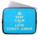 [Crown] keep calm and love coboy junior  Laptop netbook Sleeves Laptop Sleeves
