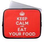 [Crown] keep calm and eat your food  Laptop/netbook Sleeves Laptop Sleeves