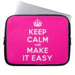 [Crown] keep calm and make it easy  Laptop/netbook Sleeves Laptop Sleeves