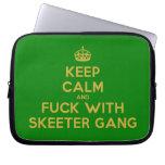 [Crown] keep calm and fuck with skeeter gang  Laptop/netbook Sleeves Laptop Sleeves