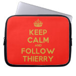 [Crown] keep calm and follow thierry  Laptop/netbook Sleeves Laptop Sleeves