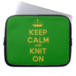[Knitting crown] keep calm and knit on  Laptop/netbook Sleeves Laptop Sleeves