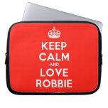 [Crown] keep calm and love robbie  Laptop/netbook Sleeves Laptop Sleeves