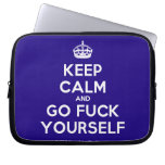 [Crown] keep calm and go fuck yourself  Laptop/netbook Sleeves Laptop Sleeves