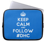 [Crown] keep calm and follow #dhc  Laptop/netbook Sleeves Laptop Sleeves