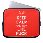 [UK Flag] keep calm and run like fuck  Laptop/netbook Sleeves Laptop Sleeves