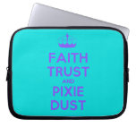 [Knitting crown] faith trust and pixie dust  Laptop/netbook Sleeves Laptop Sleeves