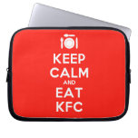 [Cutlery and plate] keep calm and eat kfc  Laptop/netbook Sleeves Laptop Sleeves