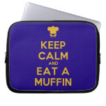 [Chef hat] keep calm and eat a muffin  Laptop/netbook Sleeves Laptop Sleeves