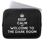 [Crown] keep calm and welcome to the dark room  Laptop/netbook Sleeves Laptop Sleeves
