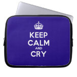 [Crown] keep calm and cry  Laptop netbook Sleeves Laptop Sleeves