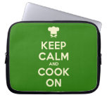 [Chef hat] keep calm and cook on  Laptop/netbook Sleeves Laptop Sleeves