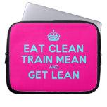 [Crown] eat clean train mean and get lean  Laptop/netbook Sleeves Laptop Sleeves