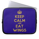 [Crown] keep calm and eat wings  Laptop/netbook Sleeves Laptop Sleeves