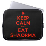 [Campfire] keep calm and eat shaorma  Laptop/netbook Sleeves Laptop Sleeves