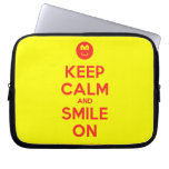 [Smile] keep calm and smile on  Laptop/netbook Sleeves Laptop Sleeves