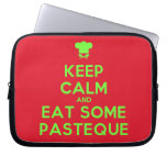 [Chef hat] keep calm and eat some pasteque  Laptop/netbook Sleeves Laptop Sleeves