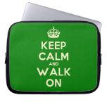 [Crown] keep calm and walk on  Laptop/netbook Sleeves Laptop Sleeves