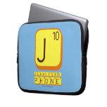 J JENNIFER'S PHONE  Laptop/netbook Sleeves Laptop Sleeves