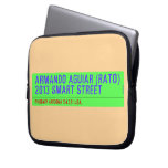armando aguiar (Rato)  2013 smart street  Laptop/netbook Sleeves Laptop Sleeves