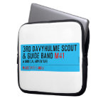 3rd Davyhulme Scout & Guide Band  Laptop/netbook Sleeves Laptop Sleeves