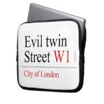 Evil twin Street  Laptop/netbook Sleeves Laptop Sleeves
