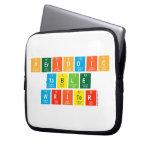 Periodic Table Writer  Laptop/netbook Sleeves Laptop Sleeves