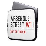 Arsehole Street  Laptop/netbook Sleeves Laptop Sleeves